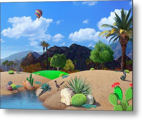 Desert Metal Print featuring the digital art Desert Splendor by Snake Jagger