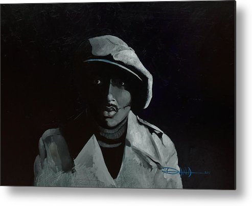 Portrait Metal Print featuring the painting Donnie Hathaway by Dana Newman