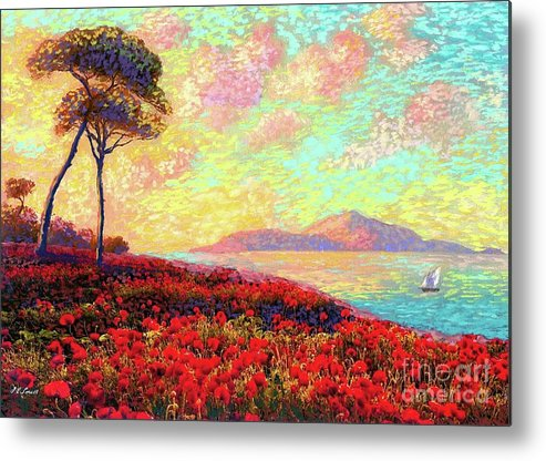 Floral Metal Print featuring the painting Enchanted by Poppies by Jane Small
