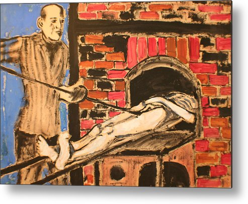 Metal Print featuring the painting Extermination by Biagio Civale