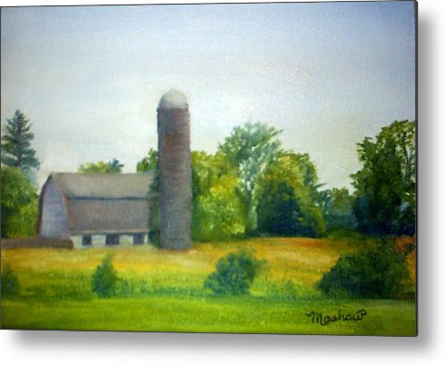 Farm Metal Print featuring the painting Farm in the Pine Barrens by Sheila Mashaw
