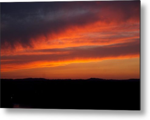 Red Sunset Metal Print featuring the photograph Firey Skies by Toni Berry
