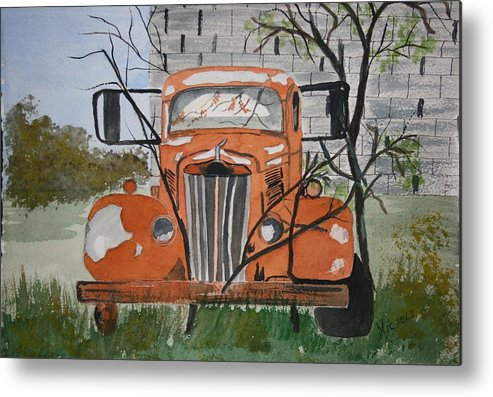 Truck Metal Print featuring the painting Forgotten by Michele Turney