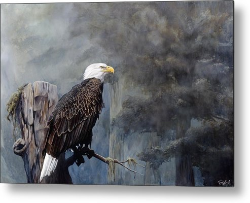 Eagle Art Metal Print featuring the painting Freedom Haze by Steve Goad
