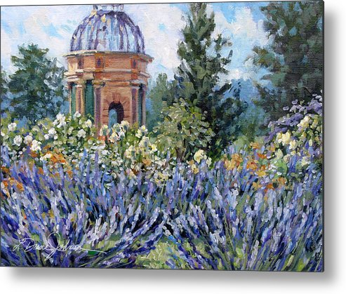 Provence France Metal Print featuring the painting Garden Profusion - Lavender by L Diane Johnson