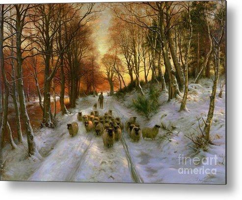 Glowed Metal Print featuring the painting Glowed with Tints of Evening Hours by Joseph Farquharson