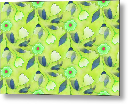 Metal Print featuring the digital art Green Tea by Elaine Jackson
