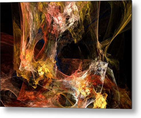Abstract Metal Print featuring the digital art Holes by Ruth Palmer