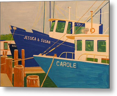 Marine Metal Print featuring the painting Jessica and Susan by Biagio Civale