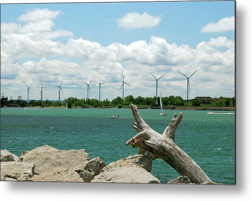 Wind Turbines Metal Print featuring the photograph Lackawanna Wind Farm 5079 by Guy Whiteley