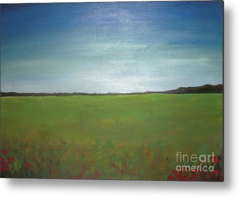 Landscape Metal Print featuring the painting Landscape II by Vesna Antic