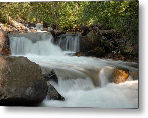 Cascade Metal Print featuring the photograph Middle Provo River Cascade by Dennis Hammer