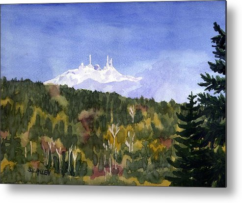 Landscape Metal Print featuring the painting Almost Mystical by Sharon E Allen