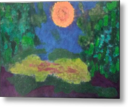 Abstract Landscape Metal Print featuring the painting No.451 by Vijayan Kannampilly