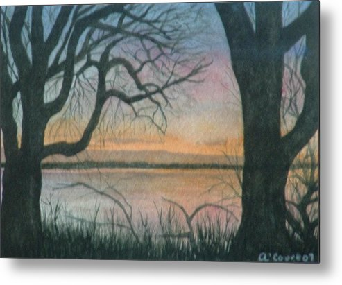 Landscape Metal Print featuring the painting Nut Island by Lynn ACourt