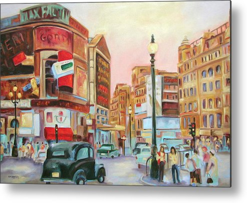 Cityscape Metal Print featuring the painting Picadilly by Ginger Concepcion