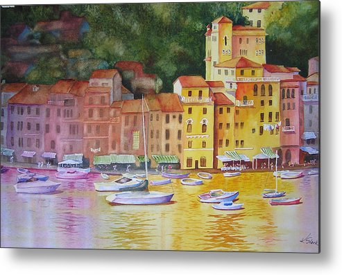 Italy Metal Print featuring the painting Portofino Afternoon by Karen Stark