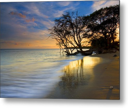 Waves Metal Print featuring the photograph Reflections of PAradise by Mike Dawson