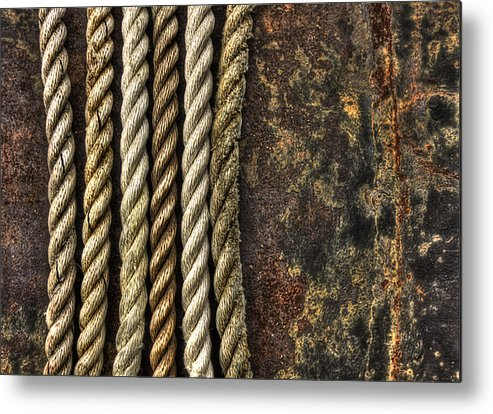 Rope Metal Print featuring the photograph Ropes by Evelina Kremsdorf