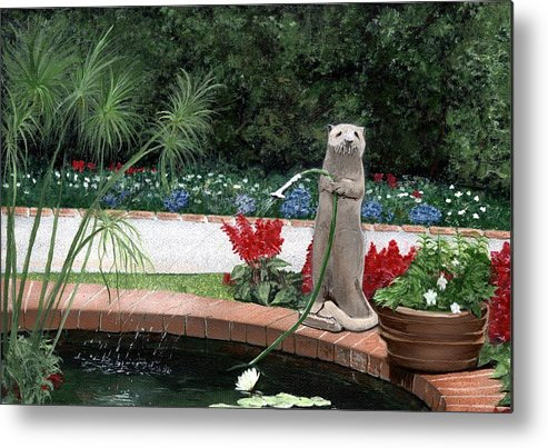 Sherman Gardens Metal Print featuring the painting Shermie by Charles Parks