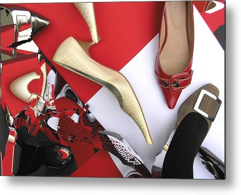 Shoes Metal Print featuring the photograph Shoe Fetishism 5 by Evguenia Men