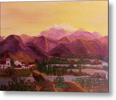 Acrylic Metal Print featuring the painting Siesta by Diana Robbins