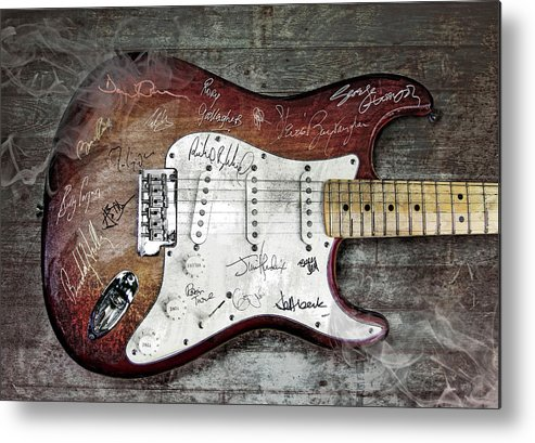 Guitar Metal Print featuring the digital art Strat Guitar Fantasy by Mal Bray