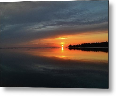 Abstract Metal Print featuring the digital art Sun Rise Above The Horizon Two by Lyle Crump