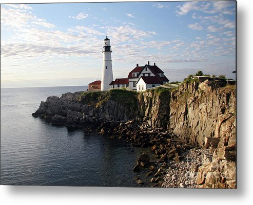 Portland Maine Metal Print featuring the photograph Sunrise over Portland by Brenda Giasson