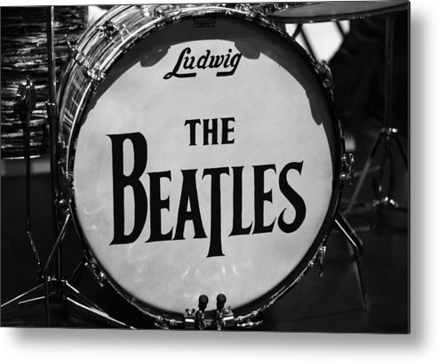 The Beatles Drum Metal Print featuring the photograph The Beatles Drum by Dan Sproul