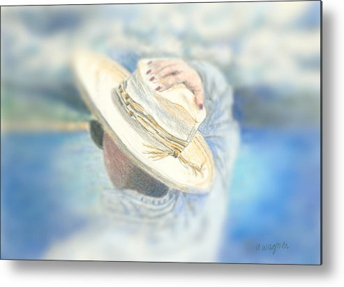 Hat Metal Print featuring the mixed media The Hat by Arline Wagner
