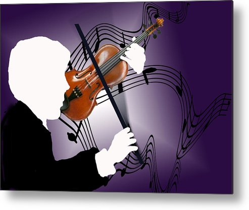 Violin Metal Print featuring the digital art The Soloist by Steve Karol