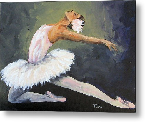 Ballet Metal Print featuring the painting The Swan by Torrie Smiley