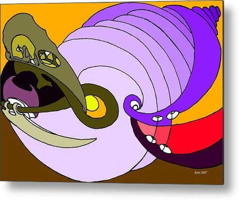 Timespiral Metal Print featuring the mixed media Timespiral by Helmut Rottler