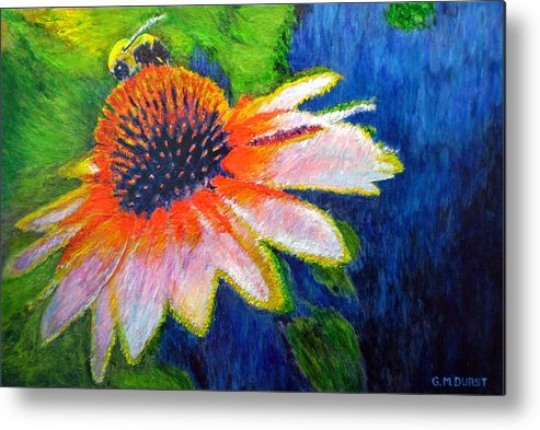 Bee Metal Print featuring the painting To Bee by Michael Durst