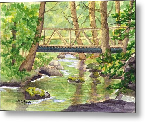 Stream Metal Print featuring the painting Tuckers Brook by Sharon E Allen