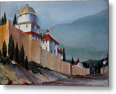 Tuscan Metal Print featuring the painting Tuscan Lane by Charles Rowland