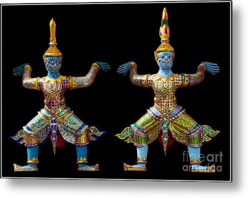 God Buddhism Thailand Culture Color Metal Print featuring the photograph Two Gods by Ty Lee