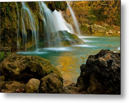 Landscape Metal Print featuring the photograph Unite Perspective of Turner Falls by Iris Greenwell