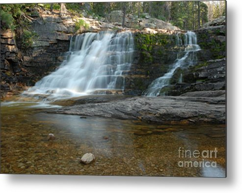 Waterfall Metal Print featuring the photograph Upper Provo River Falls by Dennis Hammer