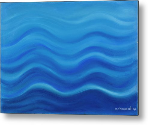 Water Metal Print featuring the painting Water by Adamantini Feng shui