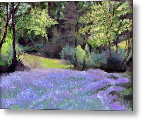 Camas Metal Print featuring the painting Westley's Meadow by Mary Chant