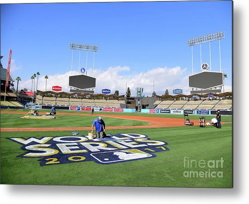 American League Baseball Metal Print featuring the photograph 2017 World Series Previews - Los by Harry How
