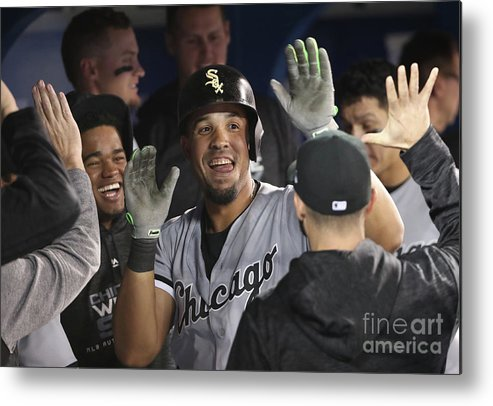People Metal Print featuring the photograph Chicago White Sox V Toronto Blue Jays by Tom Szczerbowski
