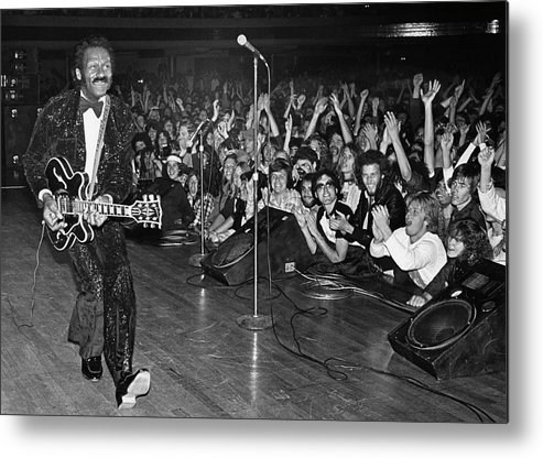 Rock Music Metal Print featuring the photograph Chuck Berry In Concert At The Palladium by George Rose