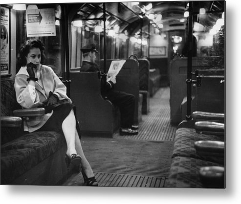 Working Metal Print featuring the photograph Commuter by Bert Hardy