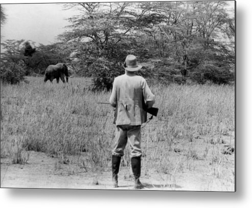 Kenya Metal Print featuring the photograph Ernest Hemingway On Safari by Earl Theisen Collection