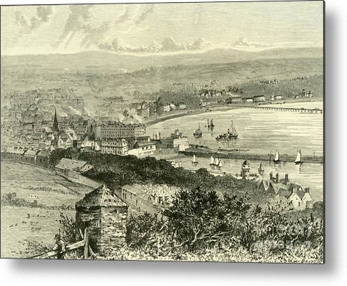 Event Metal Print featuring the drawing General View Of Douglas by Print Collector