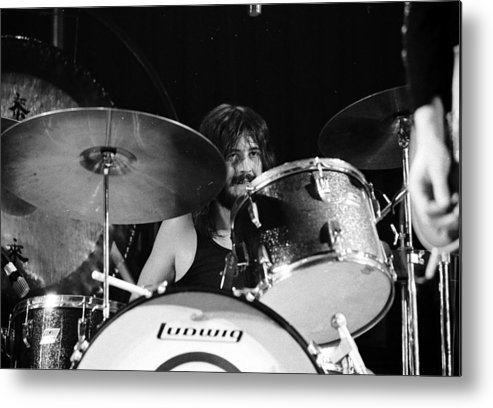 Performance Metal Print featuring the photograph Led Zeppelin At The Forum by Michael Ochs Archives
