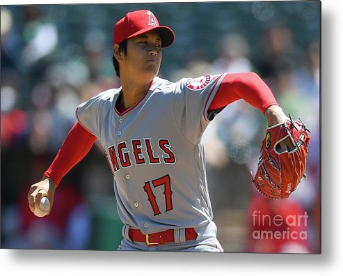 People Metal Print featuring the photograph Los Angeles Angels Of Anaheim V by Thearon W. Henderson